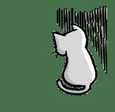 White cat that was heartwarming sticker #2353371