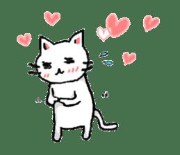 White cat that was heartwarming sticker #2353373