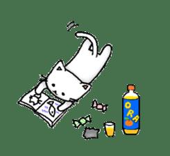 White cat that was heartwarming sticker #2353379