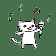 White cat that was heartwarming sticker #2353380
