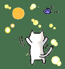 White cat that was heartwarming sticker #2353384