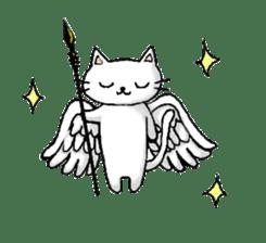 White cat that was heartwarming sticker #2353385