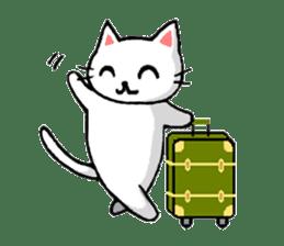 White cat that was heartwarming sticker #2353387