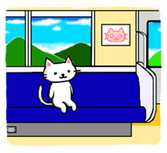 White cat that was heartwarming sticker #2353388