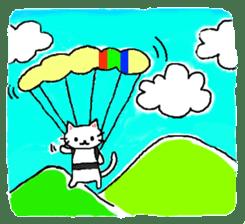 White cat that was heartwarming sticker #2353389