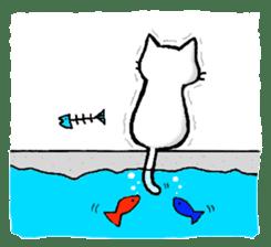 White cat that was heartwarming sticker #2353390