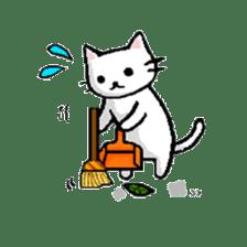 White cat that was heartwarming sticker #2353396