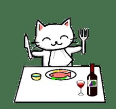 White cat that was heartwarming sticker #2353398