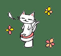 White cat that was heartwarming sticker #2353399