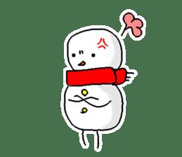 Funny Snowman sticker #2355402
