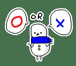 Funny Snowman sticker #2355408