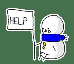 Funny Snowman sticker #2355412