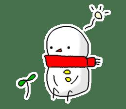 Funny Snowman sticker #2355421