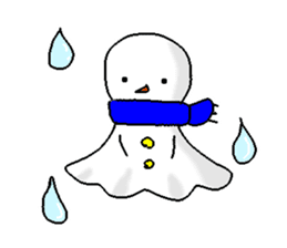 Funny Snowman sticker #2355424