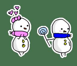Funny Snowman sticker #2355426