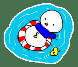 Funny Snowman sticker #2355428