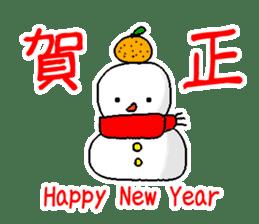Funny Snowman sticker #2355433
