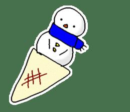 Funny Snowman sticker #2355439
