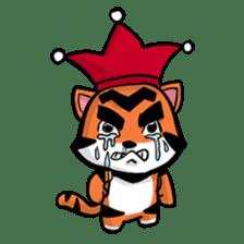 Funny & Cute Tiger Clown Stickers sticker #2356364