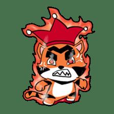 Funny & Cute Tiger Clown Stickers sticker #2356366