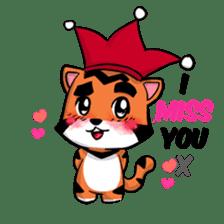 Funny & Cute Tiger Clown Stickers sticker #2356381