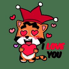 Funny & Cute Tiger Clown Stickers sticker #2356382
