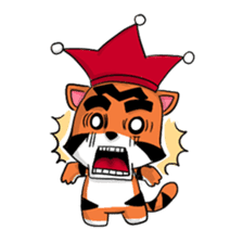 Funny & Cute Tiger Clown Stickers sticker #2356386
