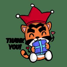 Funny & Cute Tiger Clown Stickers sticker #2356395