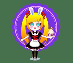 Rabbit Maid Love And Everyday sticker #2361560