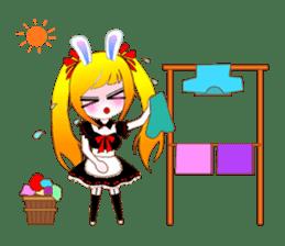 Rabbit Maid Love And Everyday sticker #2361562