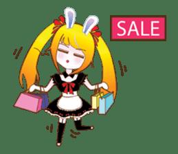 Rabbit Maid Love And Everyday sticker #2361591
