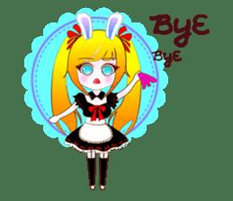 Rabbit Maid Love And Everyday sticker #2361593