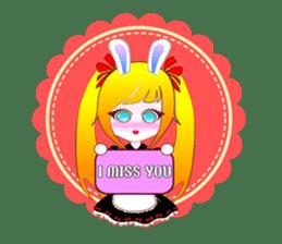 Rabbit Maid Love And Everyday sticker #2361595