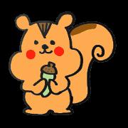 สติ๊กเกอร์ไลน์ The sticker of a Squirrel