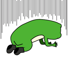 Johnny of a frog sticker #2369166