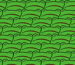 Johnny of a frog sticker #2369186