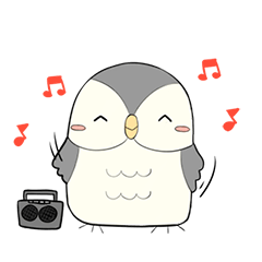 Hooty - the cute owl - grey color set