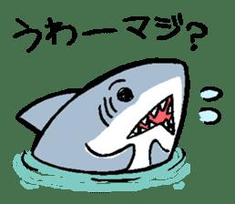 Mr.Great white shark sticker #2373383