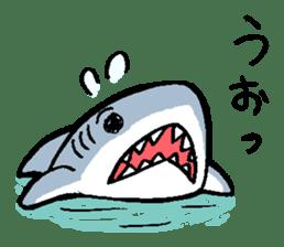 Mr.Great white shark sticker #2373390