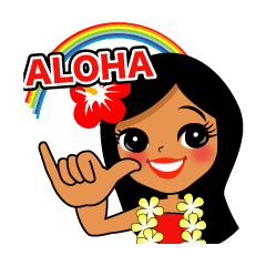 Hawaiian sticker