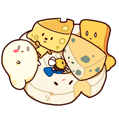 Mr. Cheese and his friends.