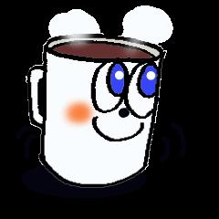 Talkative mug cup.