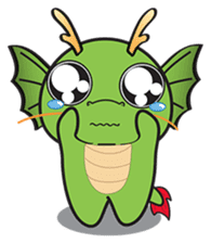 Dragy The Cute Baby Dragon sticker #2389953