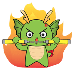 Dragy The Cute Baby Dragon sticker #2389955