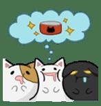 It is a cat-like. sticker #2394633