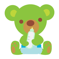 Clover the Green Baby Bear