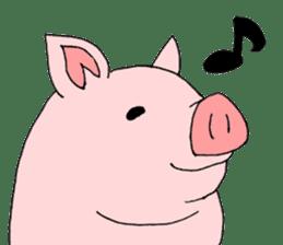 A pink pig and a black pig sticker #2405194