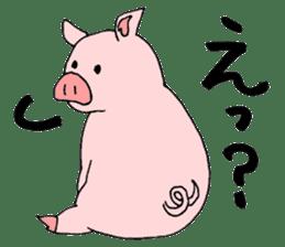 A pink pig and a black pig sticker #2405196