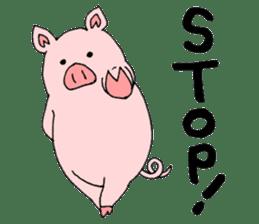 A pink pig and a black pig sticker #2405208