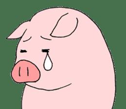 A pink pig and a black pig sticker #2405213